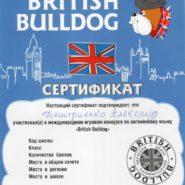 Сертификат Дмитриенко